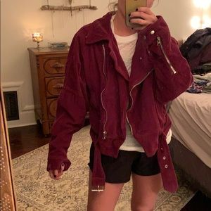 Puffer corduroy free people jacket